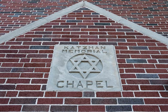 The Katzman Memorial chapel greets visitors at the Anshei Sphard Cemetery, where Tyler French and his team have completed installation of an 8000-pound, 15-foot-tall menorah.
