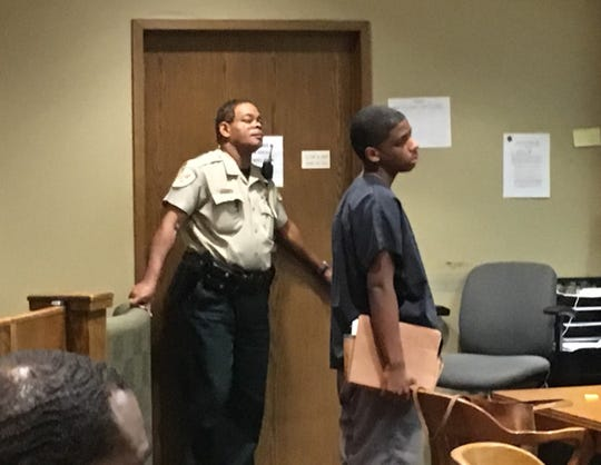 Quandarius Richardson appears in court on Aug. 16 before Criminal Court Judge Chris Craft.