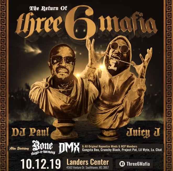 Three 6 Mafia will be reuniting for a concert in Southaven on Oct. 12, 2019.