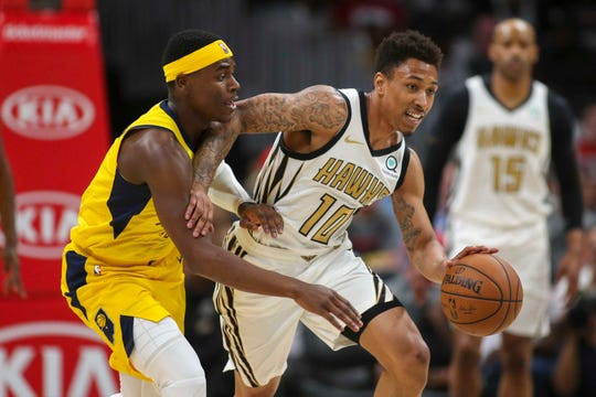 Jaylen Adams played 34 games for the Atlanta Hawks last season and averaged 2.2 points and 1.9 assists while playing 12.6 minutes per contest.