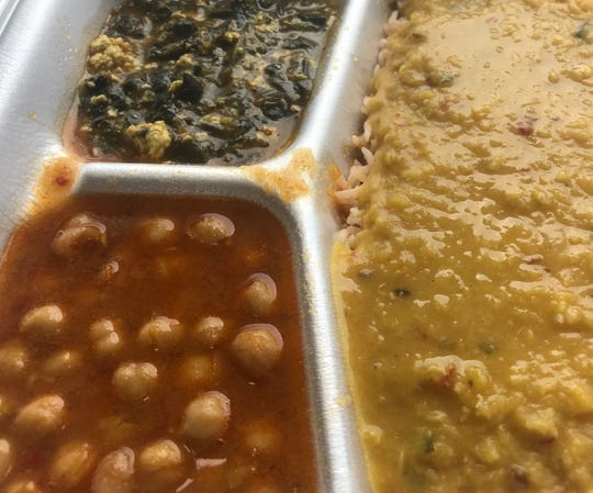 At Shah Jee's, combination lunches can include, clockwise from top left, saag paneer (spinach and cheese), dal (lentils) over rice, and chana masala (chickpeas). The newest location for the weekday, lunchtime Pakistani restaurant is 228 W. Wells St.