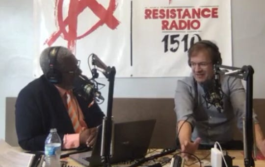 "Milwaukee County Executive Chris Abele appears on  ""The Earl Ingram Show"" on WRRD-AM (1510) on Thursday, Aug. 15, 2019."