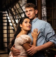 "Liesl Collazo and Jeffrey Kringer play the roles of Maria and Tony in Milwaukee Rep's production of ""West Side Story."""