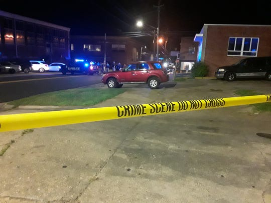 Police responded to North University Drive just off Alabama State University's campus after two men were killed and three others were injured by gunfire.
