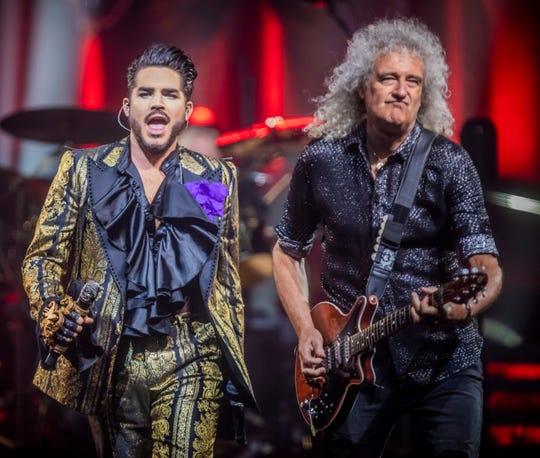 Queen performs with Adam Lambert at Bridgestone Arena Thursday, Aug. 15, 2019.