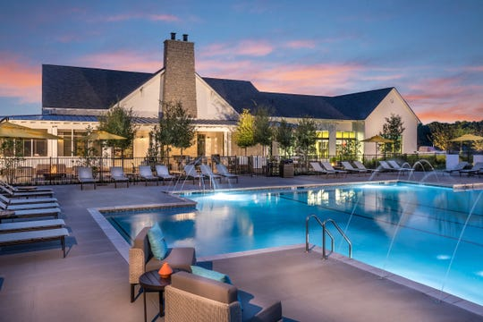 The resort-style pool in Durham Farms has lanes for swimming laps.