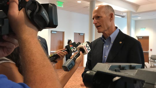 Sen. Rick Scott talks about the growing problem of student debt after a round-table discussion on Aug. 16, 2019 at Florida SouthWestern's Collier County campus.