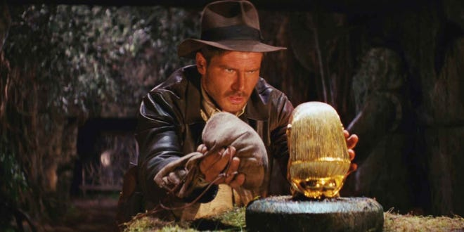 """Harrison Ford in """"Raiders of the Lost Ark,"""" which will be screened with a live orchestral sound track, during the Naples International Film Festival."""