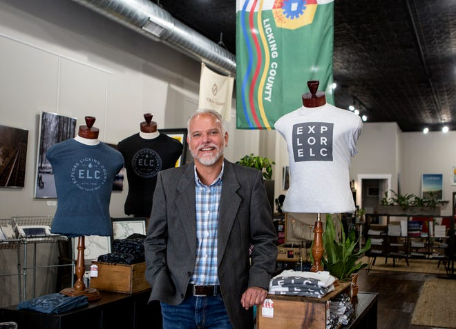 Dan Moder, executive director of Explore Licking County, at its downtown Newark location in 2019.