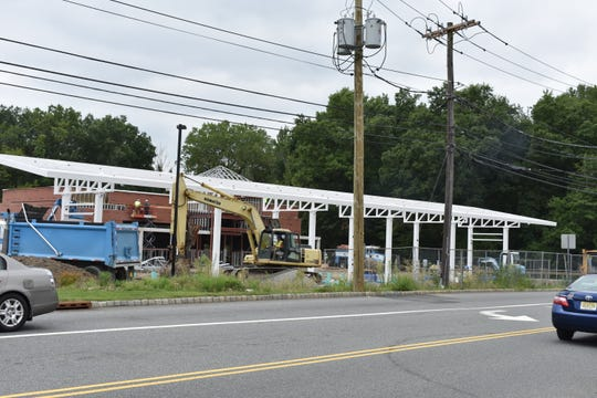 Workers continue to build the Wawa in Fairfield, which is scheduled to open in the fall.