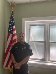 Captain Mustafa Rabboh of the Bergenfield Police Department in a photo taken on August 15, the day when the department announced that he would be the borough's next police chief.