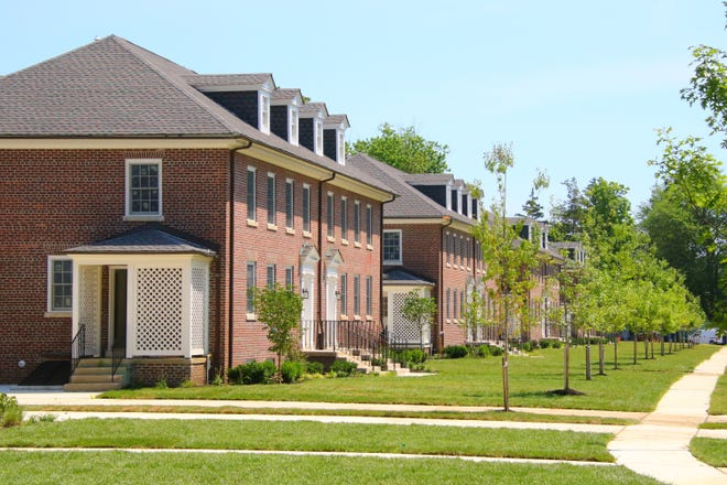 Duplex homes on Officer's Row are attracting home buyers to East Gate at historic Fort Monmouth.