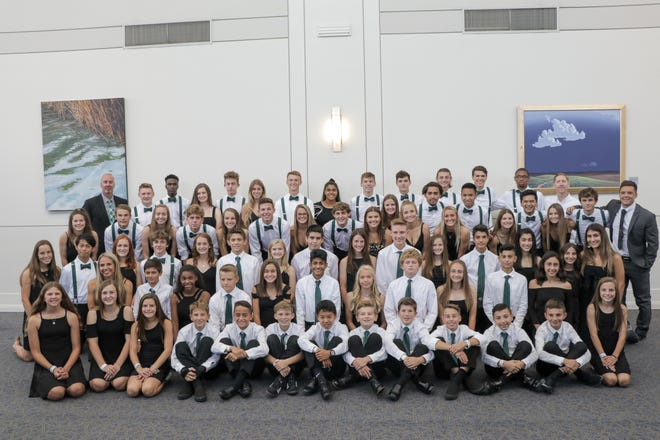 Four teams in the Michigan Jaguars Soccer Club based in Novi celebrate after participating in the U.S. Youth Soccer National Championships in Overland Park, Kansas