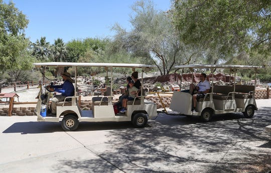 Visitors to the The Living Desert are shuttled around in Palm Desert, August 16, 2019.