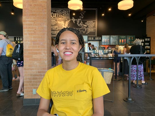 ASU student Janae Lewis poses for a photo in the ASU Memorial Union Starbucks in Tempe on Aug. 15, 2019.