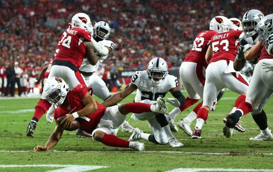 It was a tough night for quarterback Kyler Murray and the Arizona Cardinals against the Oakland Raiders.