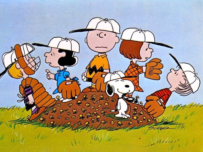 """""""You're a Good Man, Charlie Brown"""" is based on the characters of the beloved Peanuts comic strip."""