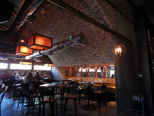 The inside of Pedal Haus brewery and restaurant on Mill Avenue in Tempe.