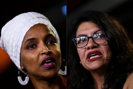 Ilhan Omar (izq.) y Rashida Tlaib son las dos representantes a las que el gobierno israelí les prohibió la entrada al país.