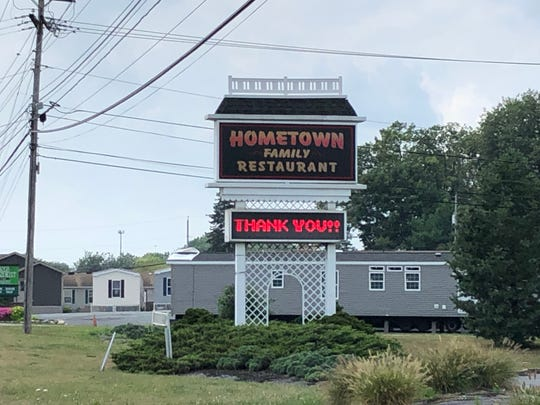 Hometown Family Restaurant along Route 422 in Palmyra abruptly closed Thursday.