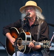 Arlo Guthrie performs at the 50th Anniversary of the Woodstock Festival at Bethel Woods Center for the Arts on August 15, 2019.