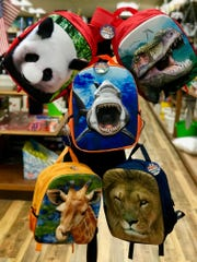 Backpacks with 3-D designs can be found at A.L. Stickle in Rhinebeck.