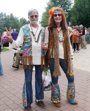 Joe & Marianne Trovato of Bensalem, PA  at Bethel Woods Center for the Arts to celebrate the 50th anniversary of Woodstock on August 16, 2019. Marianne was at the original festival in 1969.