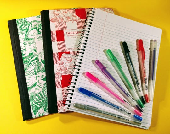 Catskill Art & Office Supply has a variety of school supplies, including Decomposition books and pens.