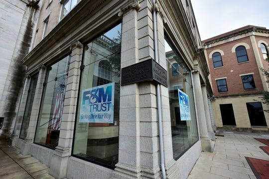 After moving its headquarters to a new facility on Nitterhouse Drive, F&M Trust will continue to lease the first floor of its current headquarters at 20 S. Main St., Chambersburg. Pictured Aug. 15, 2019.