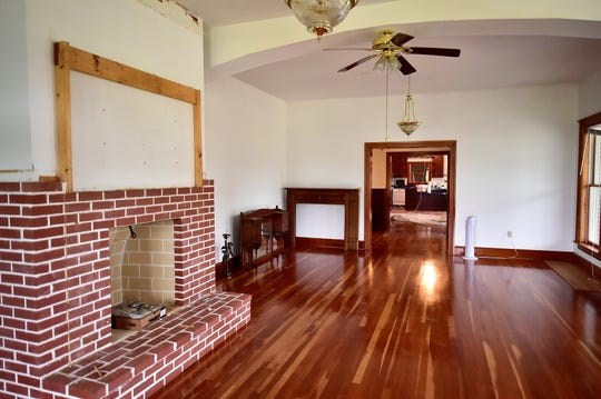 Beautiful hardwood floors flow from the living room on the northwest corner of the house, through a foyer and into a newly enlarged kitchen. The Wishard mansion on Angle Road, Antrim Township, is being turned into Monarch's Way, a non-profit residential school for at-risk girls.