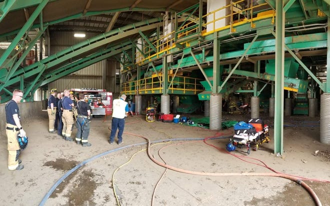 It took fire/rescue crews and medical teams nearly two hours to free a man whose entire body became caught in an industrial machine at Recycle America in Lower Windsor Twp. on Aug. 15, 2019.