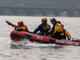 Boat crews from Susquehanna Township participate in 'Operation Hurricane', a full-scale emergency simulation demonstration on the Susquehanna River on August 15, 2019.