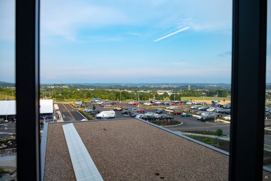 There is a nice view of West Manchester Township and York from the third-floor lobby.