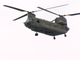 A Chinook helicopter hovers over a simulated rescue during 'Operation Hurricane', a full-scale emergency simulation demonstration on the Susquehanna River on August 15, 2019.
