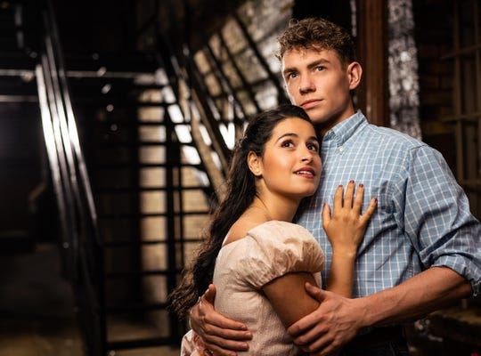Liesl Collazo and Jeffrey Kringer play the roles of Maria and Tony in Milwaukee Rep's production.
