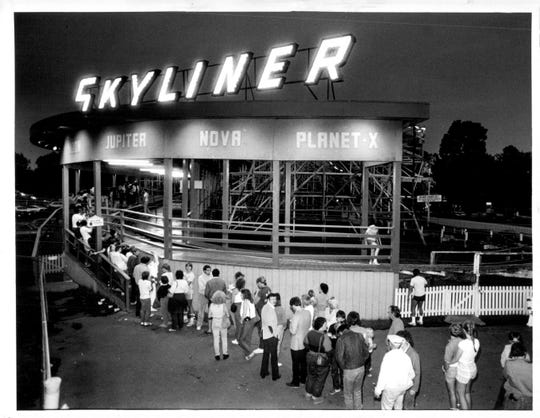 1985: Lines were long at the Skyliner, Roseland's popular roller coaster.