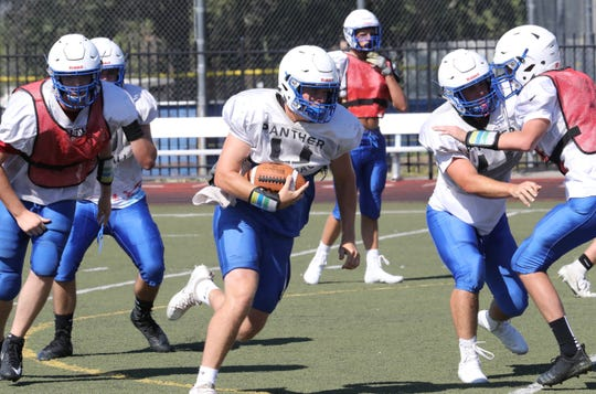 The U-Prep Panthers practice Thursday, Aug. 14, 2019, at the Redding campus.
