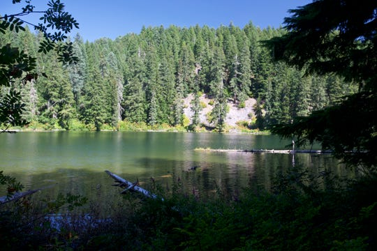 Fir Lake on the edge of the Mount Jefferson Wilderness.
