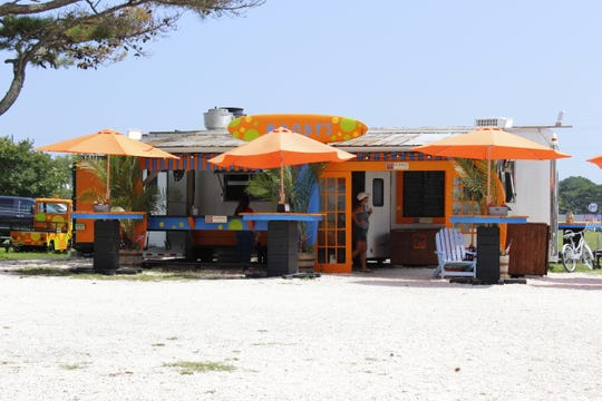 An exterior view of Woody's Beach BBQ in Chincoteague on Wednesday, Aug. 7.