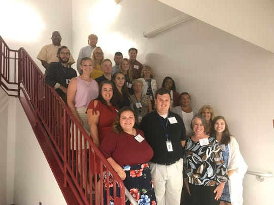 New teachers in Accomack County Public Schools for the 2019-2020 school year include this group, who moved to Accomack from other places to teach.