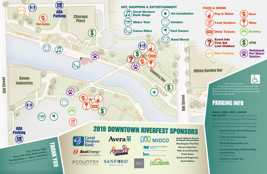 Going to RiverFest? Here's a map