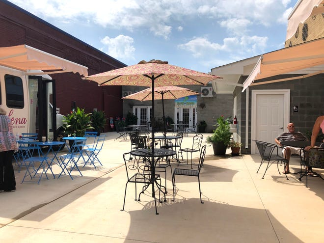 Staunton Patio, on the corner of Baldwin and Lewis streets in downtown Staunton, recently opened and offers a food truck court, patio and retail options.