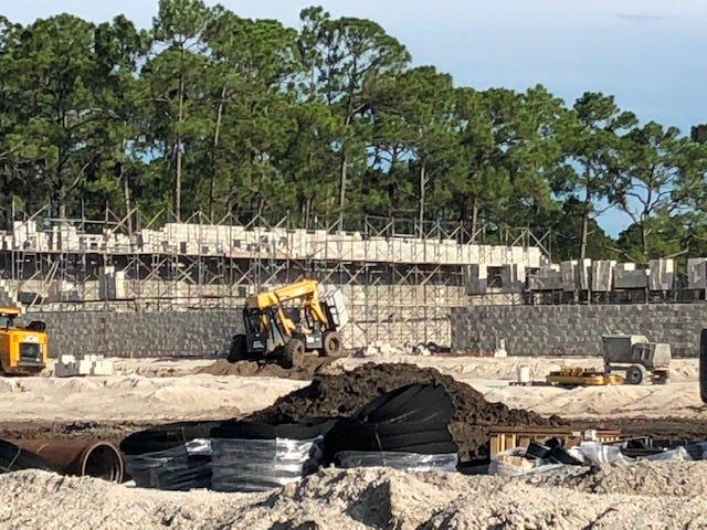 Construction on Indian River County's first Tractor Supply store is moving along as of Aug. 16, 2019 on 12 acres on the south side of County Road 512 just east of I-95, next to the Racetrac gas station in Fellsmere.