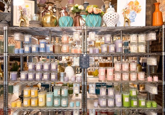A selection of candles at Magnolia Scents in downtown Greenville.
