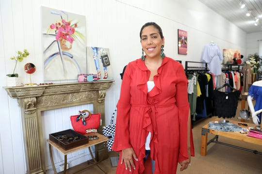 Manal Flournoy, a mom of two and fashion lover, at her shop in Nyack called Runway on the Hudson Aug. 16, 2019. Flournoy recently opened a second clothing boutique in Tuxedo.