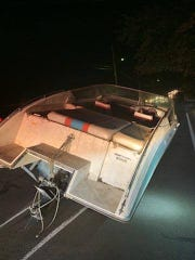 Ramapo police said this boat was found on West Eckerson Road Thursday, Aug. 15, 2019.