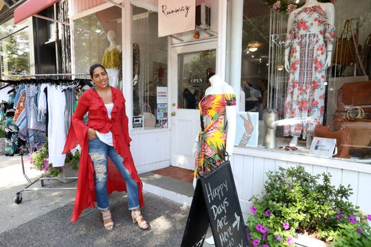 Owner Manal Flournoy outside her clothing boutique called Runway on the Hudson Aug. 16, 2019 in Nyack. Flournoy, a mom of two and fashion lover, recently opened a second clothing boutique in Tuxedo.
