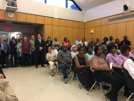 Audience at public hearing on Pascack Ridge public hearing in Ramapo Town Hall on Aug. 15, 2019
