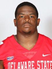 Delaware State linebacker Brian Cavicante.