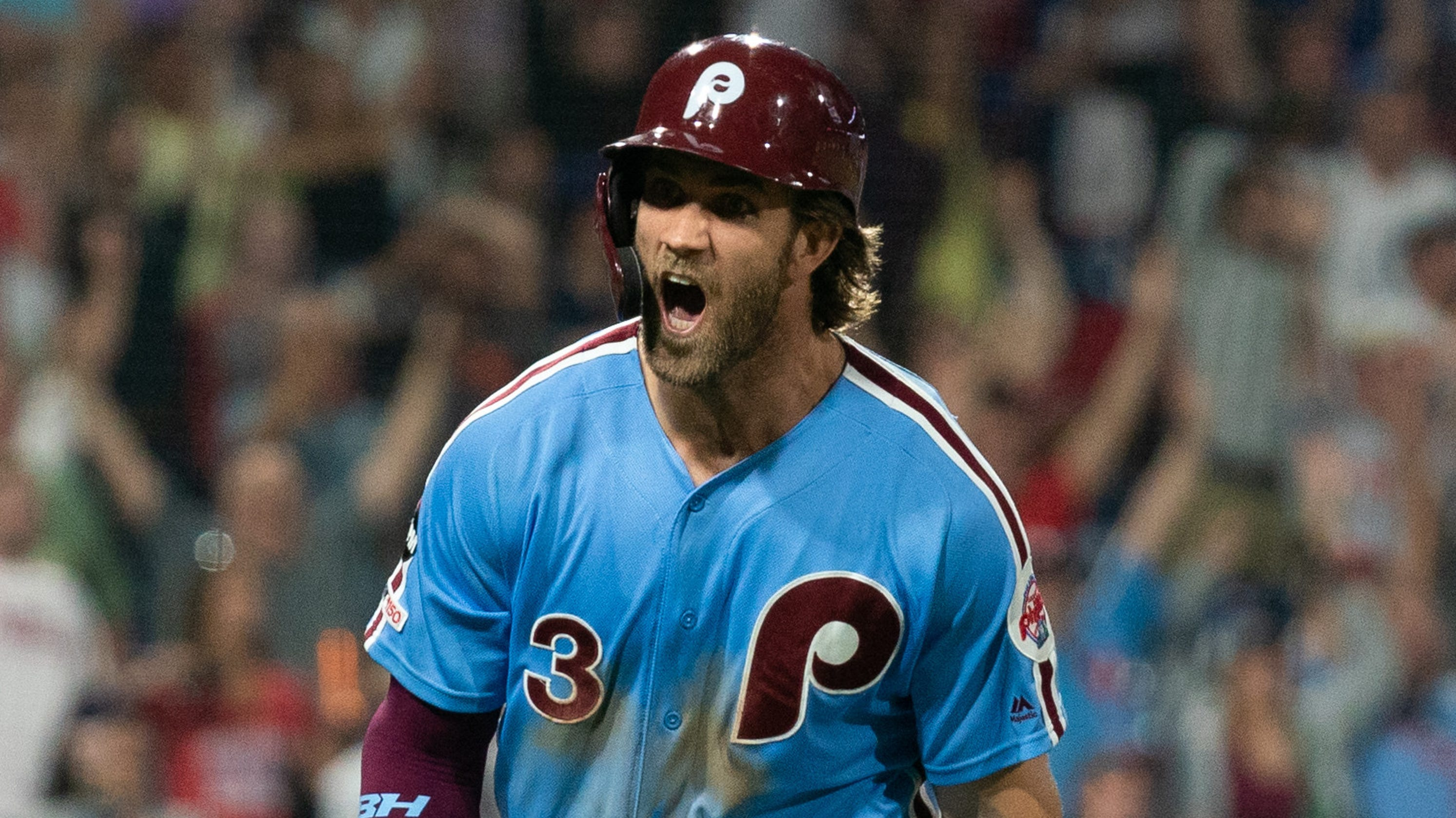 huge selection of fc5b7 cb200 Bryce Harper crushes walk-off grand slam, sprints around bases
